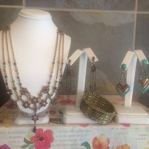 Burnt gold jewelry sets